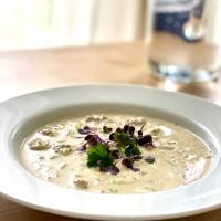 GENUß ZUM LÖFFELN - Käse-Lauch-Suppe mit Hackfleisch
